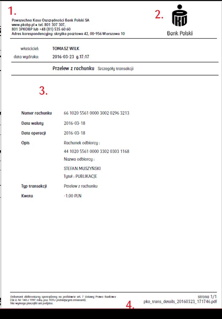 Karta kierowcy - potwierdzenie zapłaty
